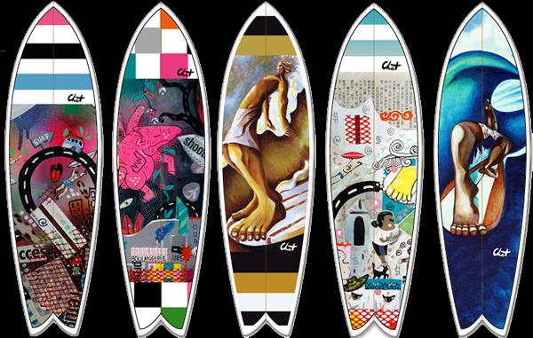 Nouveau des d cos c line chat pour votre surf ou votre longboard c line chat - Planche de surf deco ...