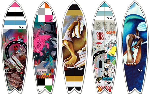 Mini Planche De Surf Deco : Nouveau des décos quot céline chat pour votre surf ou