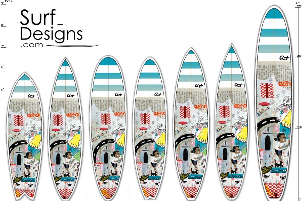 nouveau des d cos c line chat pour votre surf ou votre longboard c line chat. Black Bedroom Furniture Sets. Home Design Ideas