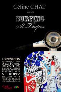 affiche-expo-celine-chat-surfing-st-tropez-WEB