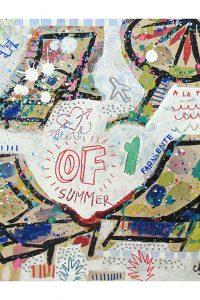 summer of love-celine chat-29x29cm