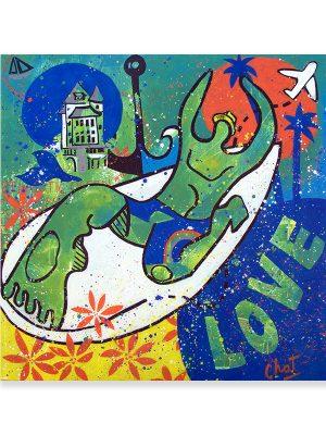 surfeur vert-celine chat-site