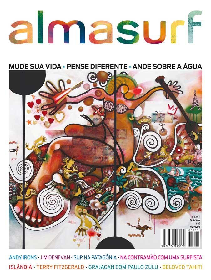 Couverture du magazine ALMASURF, 1er magazine de culture surf au Brésil, Octobre / Novembre 2011