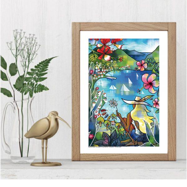 visuel-affiche-la baie-celine-chat-cadre 2