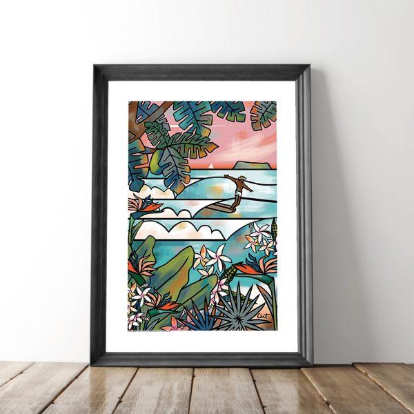 visuel-cadre-tropical-paradise-celine-chat cadre