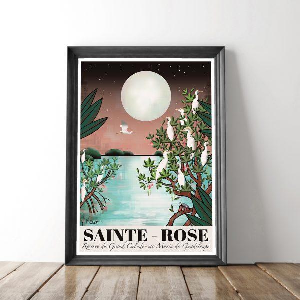 cadre- affiche ste rose celine chat